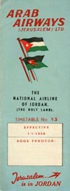 Arab Airways (Jerusalem) 1958