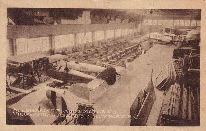 Aeromarine factory - construction of Models 85 and 75