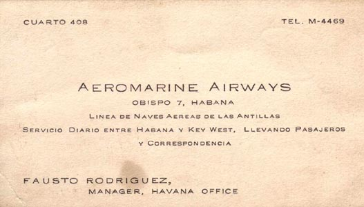 Aeromarine business card