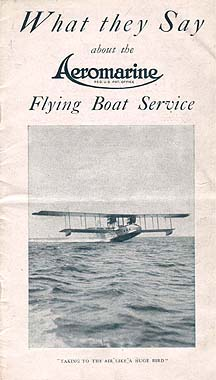 Aeromarine Airways brochure, 1922