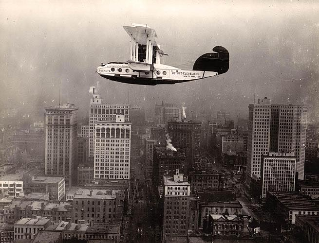 Aeromarine Model 75 'Buckeye' over Detroit