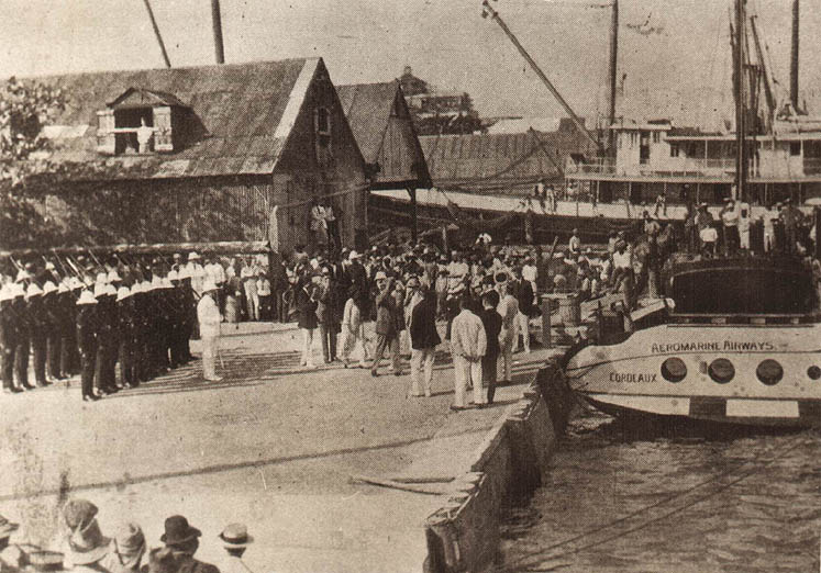 Christening of the 'Cordeaux' at Nassau, 1923