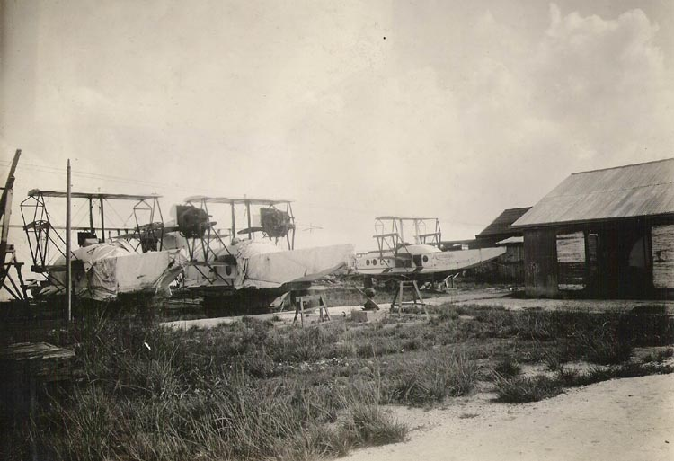 Aeromarine Model 75s stored for the summer at Key West