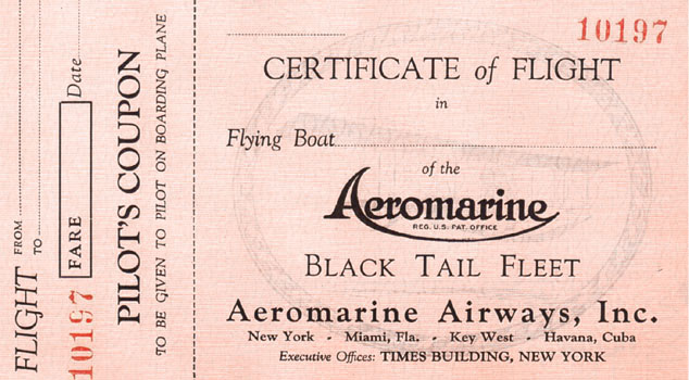 Aeromarine ticket