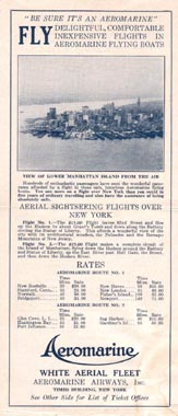 Aeromarine Airways brochure, 1921